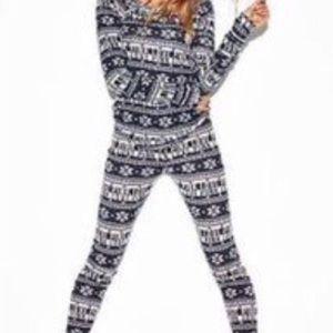 NWOT VS PINK ONSIE thermal one piece pajamas